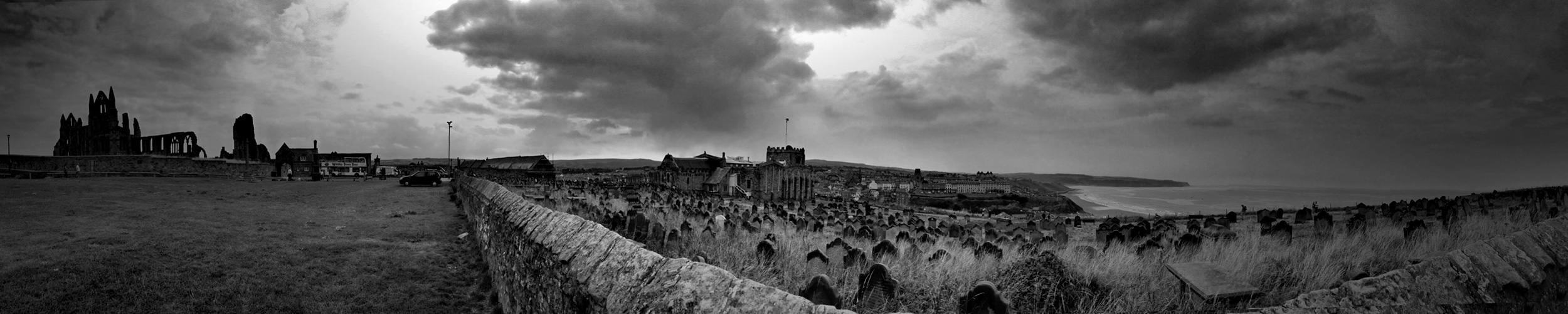 Whitby Abbey panorama